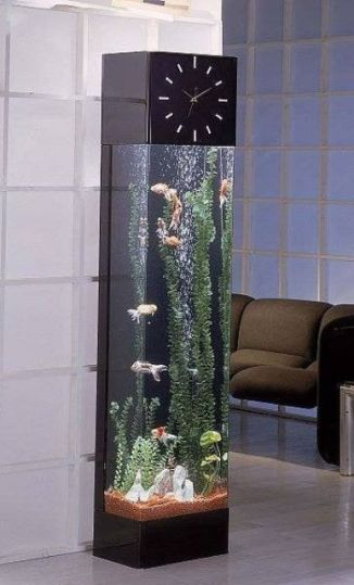 an-aquarium-combined-with-a-clock-is-a-fresh-and-modern-idea-of-a-home-clock-that-will-fit-a-modern-space