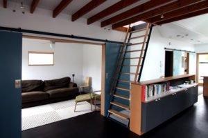 colored-door-navy-sliding-chezerby-interior-door-design-ideas-300x200