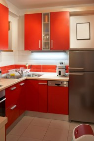 small-kitchen-with-colorful-cabinetry