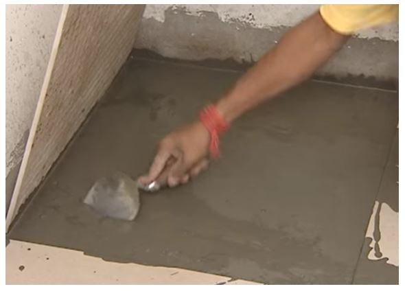 Cement Mortar used for Flooring (Source Youtube-UltraTech Cement)