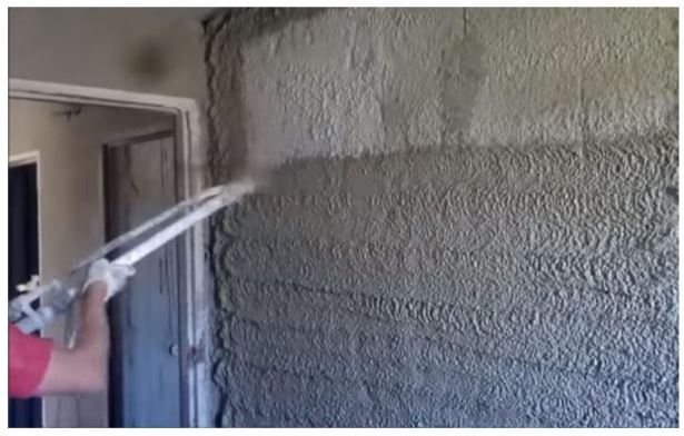Cement mortar used for Plastering (Source YouTube-Piotr Kaminski)