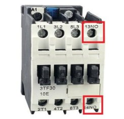 no nc on contactor in hindi