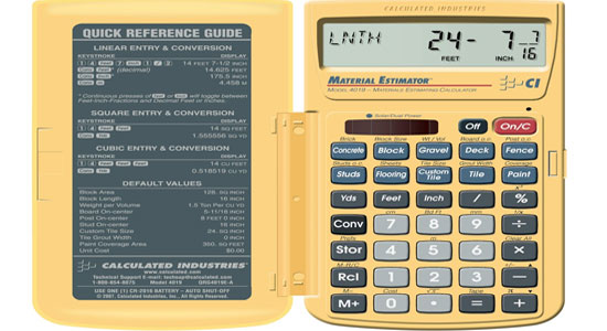 Calculated Industries 4019 Materials Estimating Calculator ...