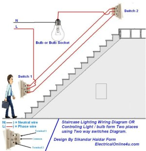 How To Control A Lamp  Light Bulb From Two Places Using
