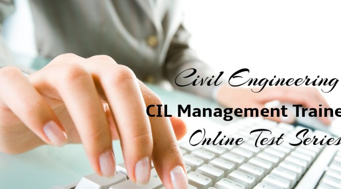 Civil Engineering CIL Management Trainee Online Test Series