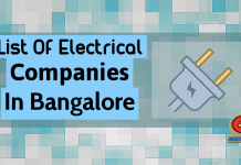 List Of Electrical Companies In Bangalore (Karnataka)
