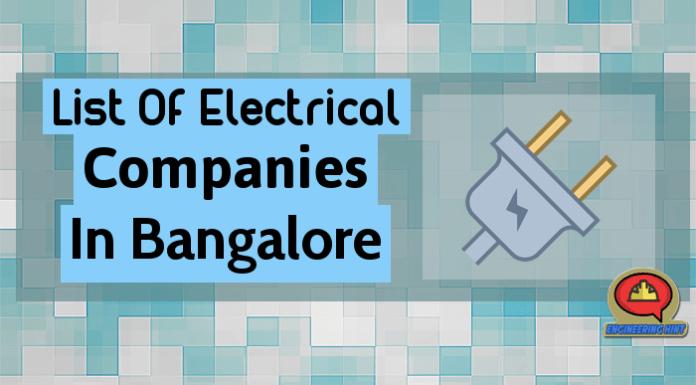 List Of Electrical Companies In Bangalore (Karnataka)
