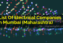 List Of Electrical Companies In Mumbai (Maharashtra)