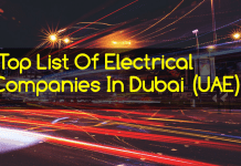 Top List Of Electrical Companies In Dubai (UAE)