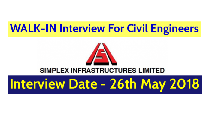 Simplex Infrastructures Ltd Hiring Civil Engineers For Metro