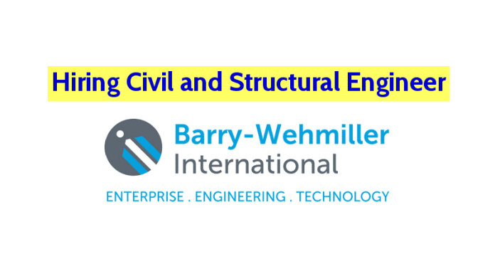 Barry-Wehmiller International Pvt Ltd Hiring Civil and Structural Engineer Apply Now