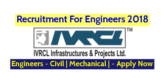 IVRCL Recruitment For Engineers 2018 Engineers - Civil Mechanical - Apply Now