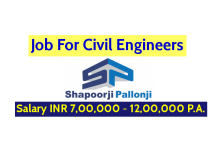 Job For Civil Engineers Shapoorji Pallonji Groups Salary INR 7,00,000 - 12,00,000 P.A.