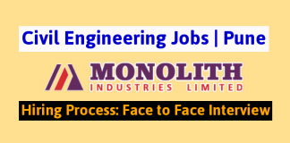 Monolith Industries Limited Civil Engineering Jobs Pune