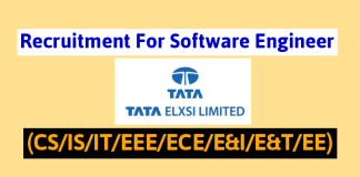 Off-Campus Drive Tata Elxsi Recruitment For Software Engineer (CSISITEEEECEE&IE&TEE)
