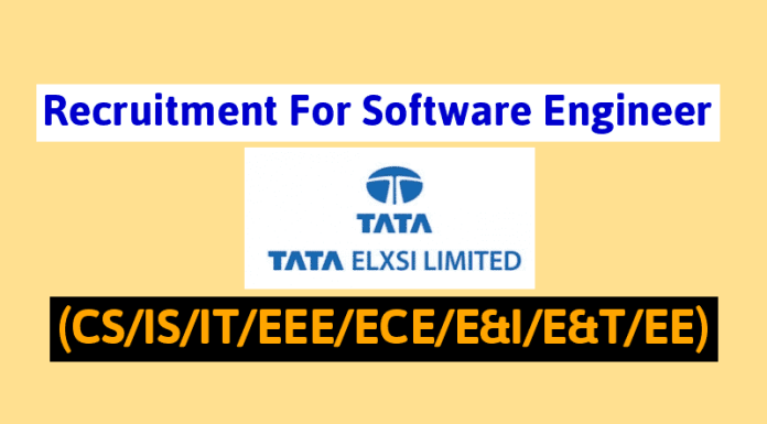 Off-Campus Drive Tata Elxsi Recruitment For Software Engineer (CSISITEEEECEE&IE&TEE)