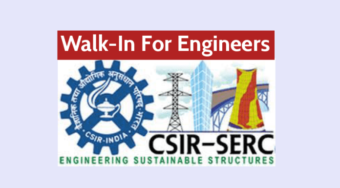 CSIR Recruitment Walk-In For Engineers - 8th October