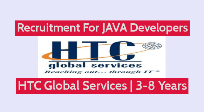 HTC Global Services Recruitment For JAVA Developers 3 - 8 Years