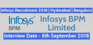 Infosys Recruitment 2018 Walk-In For Technology Support Specialist Hyderabad Bengaluru