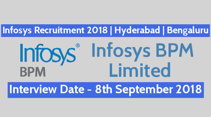 Infosys Recruitment 2018 Walk-In For Technology Support Specialist Hyderabad Bengaluru