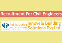 Innovela Building Solutions Pvt Ltd Recruitment For Civil Engineers