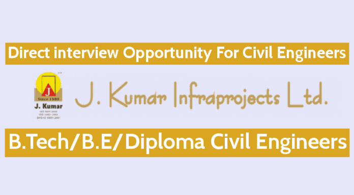 J. Kumar Infraprojects Ltd Direct interview Opportunity For Civil Engineers GraduateDiploma Engineers