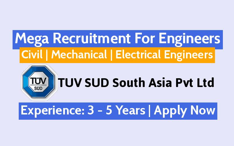 Mega Recruitment For Engineers - Civil | Mechanical