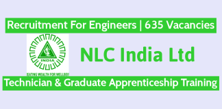 NLC India Ltd Recruitment For Engineers 635 Vacancies Technician & Graduate Apprenticeship