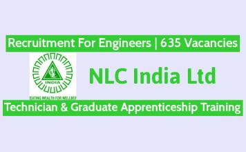 NLC India Ltd Recruitment For Engineers 635 Vacancies Technician & Graduate Apprenticeship