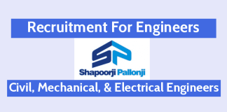 Shapoorji Pallonji Recruitment For Engineers Civil, Mechanical, & Electrical Engineers Mumbai