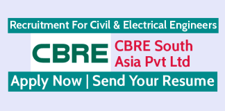 Recruitment For Civil & Electrical Engineers CBRE South Asia Pvt Ltd Send Your Resume
