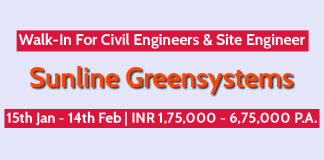 Sunline Greensystems Walk-In For Civil Engineers & Site Engineer