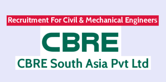 CBRE South Asia Pvt Ltd Recruitment For Civil & Mechanical Engineers Apply Now