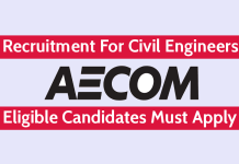 AECOM India Pvt Ltd Hiring Civil Engineers Eligible Candidates Must Apply
