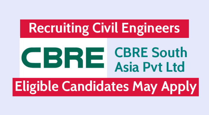 CBRE South Asia Pvt Ltd Recruiting Civil Engineers Eligible Candidates May Apply