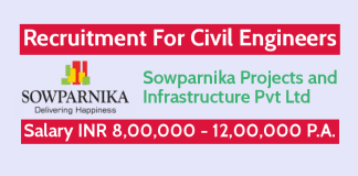 Hiring Civil Engineers Sowparnika Projects and Infrastructure Pvt Ltd Salary INR 8,00,000 - 12,00,000 P.A.