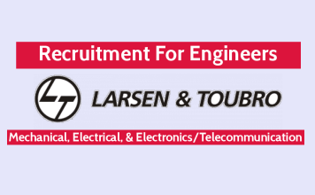 L&T Recruiting Engineers Mechanical, Electrical, & ElectronicsTelecommunication - Check Now