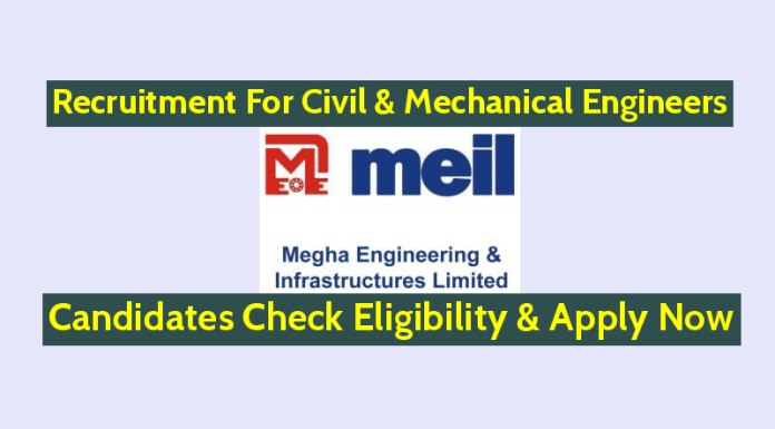 MEIL Recruitment For Civil & Mechanical Engineers Candidates Check Eligibility & Apply Now
