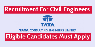 Tata Consulting Engineers Ltd Recruitment For Civil Engineers Eligible Candidates Must Apply
