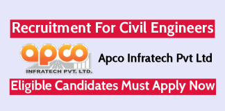 Apco Infratech Pvt Ltd Recruitment For Civil Engineers Eligible Candidates Must Apply Now