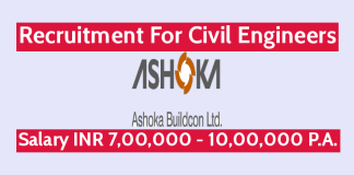 Ashoka Buildcon Ltd Recruitment For Civil Engineers