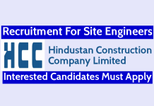 Hindustan Construction Recruitment For Site Engineers Interested Candidates Must Apply