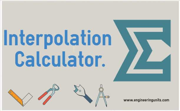 linear interpolation calculator engineering units online calculator