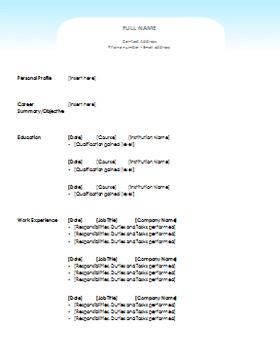 نماذج CV او سيرة ذاتية جاهزة للطباعة عربى وانجليزى باحدث الطرق مجموعة تضم  50 شكل