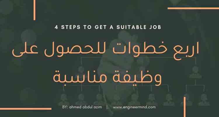 ٤ خطوات للحصول على وظيفة مناسبة