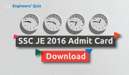 admit card ssc je 2016