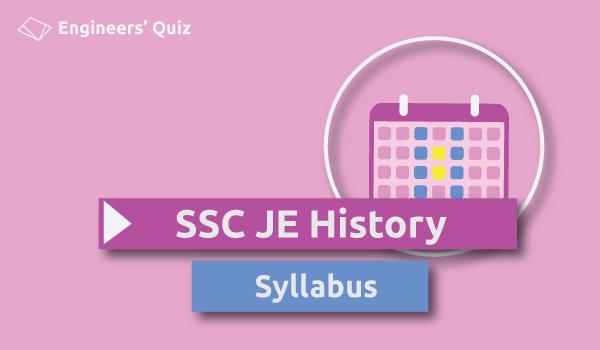 ssc je history syllabus