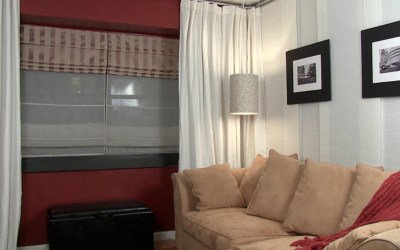 How to install a hanging room divider