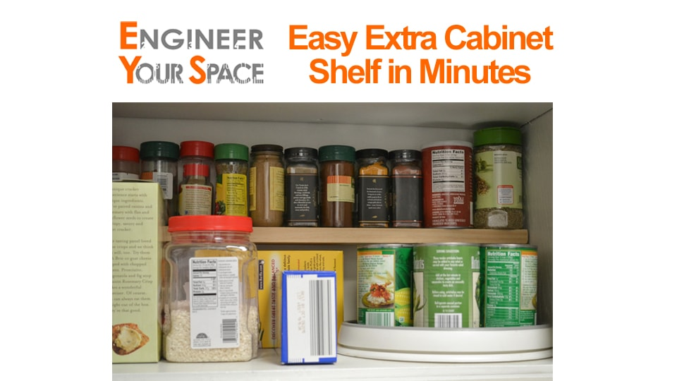 Small Kitchen? Get more storage w/ extra shelves