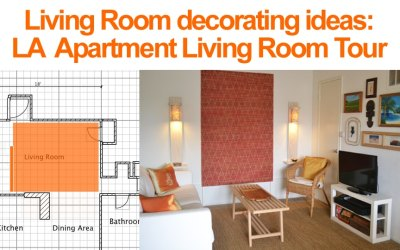 Small Living Room Ideas: LA Apartment Living Room Tour